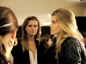 Models at Barneys chatted with Rodarte